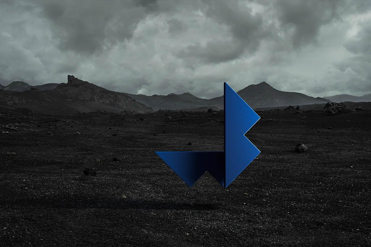 Logo Wouter Boer Photography black landscape Iceland