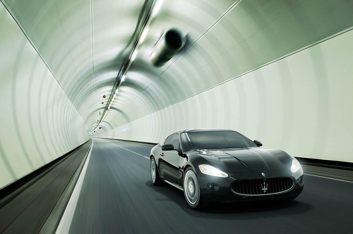 Maserati GrandTurisma tunnel Wouter Boer Photography